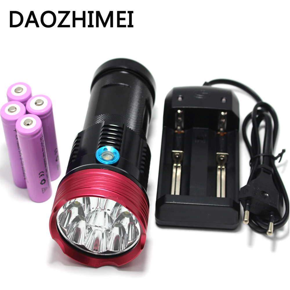 Inventive 10t6 Flashlight 18650 20000lm 10x T6 Waterproof Recharger Torch Light With 4x 18650 5000mah Battery Camping/charger Led Flashlights