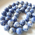 "Charming 10mm Lapis Lazuli blue jasper natural round beads diy  European style Necklace making 18"" MY5165"