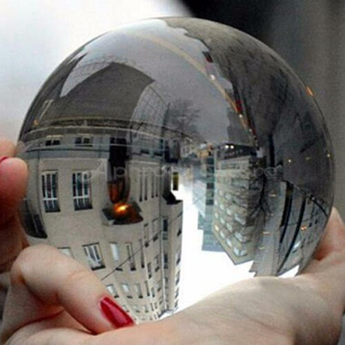 80mm Clear Glass Crystal Ball Healing Sphere Photography Props Gifts New Artificial Crystal  Decorative Balls