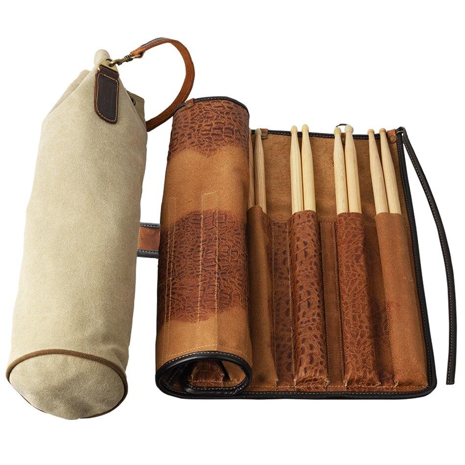 PDH professionnel grande capacité tambour bâtons support sac Portable mallette de rangement support de pochette Durable peau de vache et toile matériaux