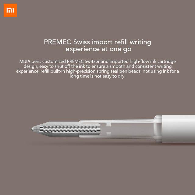 Xiaomi Mijia Pen with 0.5mm Swiss Refill 143mm Rolling Roller Ball Sign Pen Mi Xiomi Sign Signing Ballpoint Pen Black ink 2