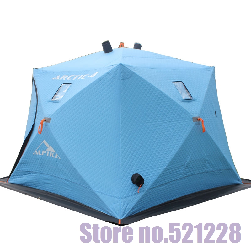 5-6 person 3 layers warm winter automatic quick open cotton Oxford Huge space fishing beach outdoor camping ice fishing tent