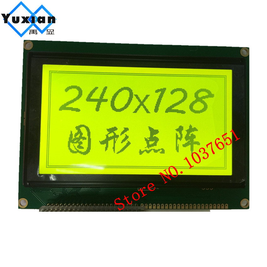 green 240128 240*128 240X128 lcd display panel 20pin 5.1inch LCM240128A-V3.0 T6963C UCI6963 144*104mm free ship lcd factory