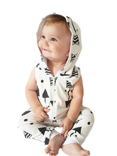 Summer & Spring Newborn Infant Baby Clothes Cotton Jumpsuit Boys Romper Hooded Boy Girl 3-24Month