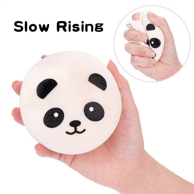 Lovely 3.9 Inch Squishy Slow Rising Panda Phone Strap Toy Baby Kids Funny Toys Random Color