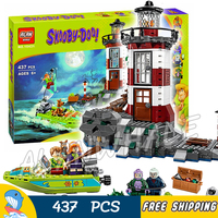 437pcs Haunted Lighthouse Scooby Doo Dog Tower 10431 Figure Building Blocks Shaggy Daphne Compatible with LegoING