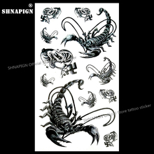hot deal buy deadly black scorpion temporary tattoo body art flash tattoo stickers 17*10cm waterproof fake tatoo car styling wall sticker