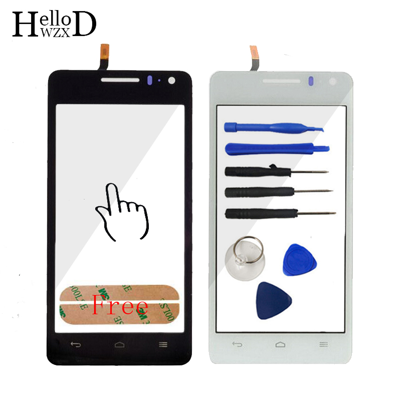 Factory Price Touch Glass For Huawei Honor 2 U9508 Touch Screen Front Glass Digitizer Panel Lens Sensor Touchscreen Adhesive