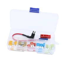 25 Pcs Car Boat Motorcycle ATR Micro2 Blade Fuse 5A 7.5A 10A 15A 20A & In line Fuse Holder/Puller Plastic & Zinc Alloy