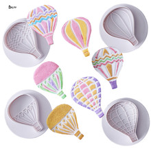 BXLYY new 4pc hot air balloon plastic mold cake baking decoration tool spring 2019 year decorations party supplies.7z