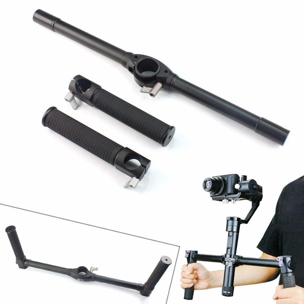 лучшая цена Zhiyun Crane Extended Handle Bar Dual Handheld Grip Bracket Kit For Zhiyun Crane 2 / Crane / Crane M Camera Gimbal Accessory
