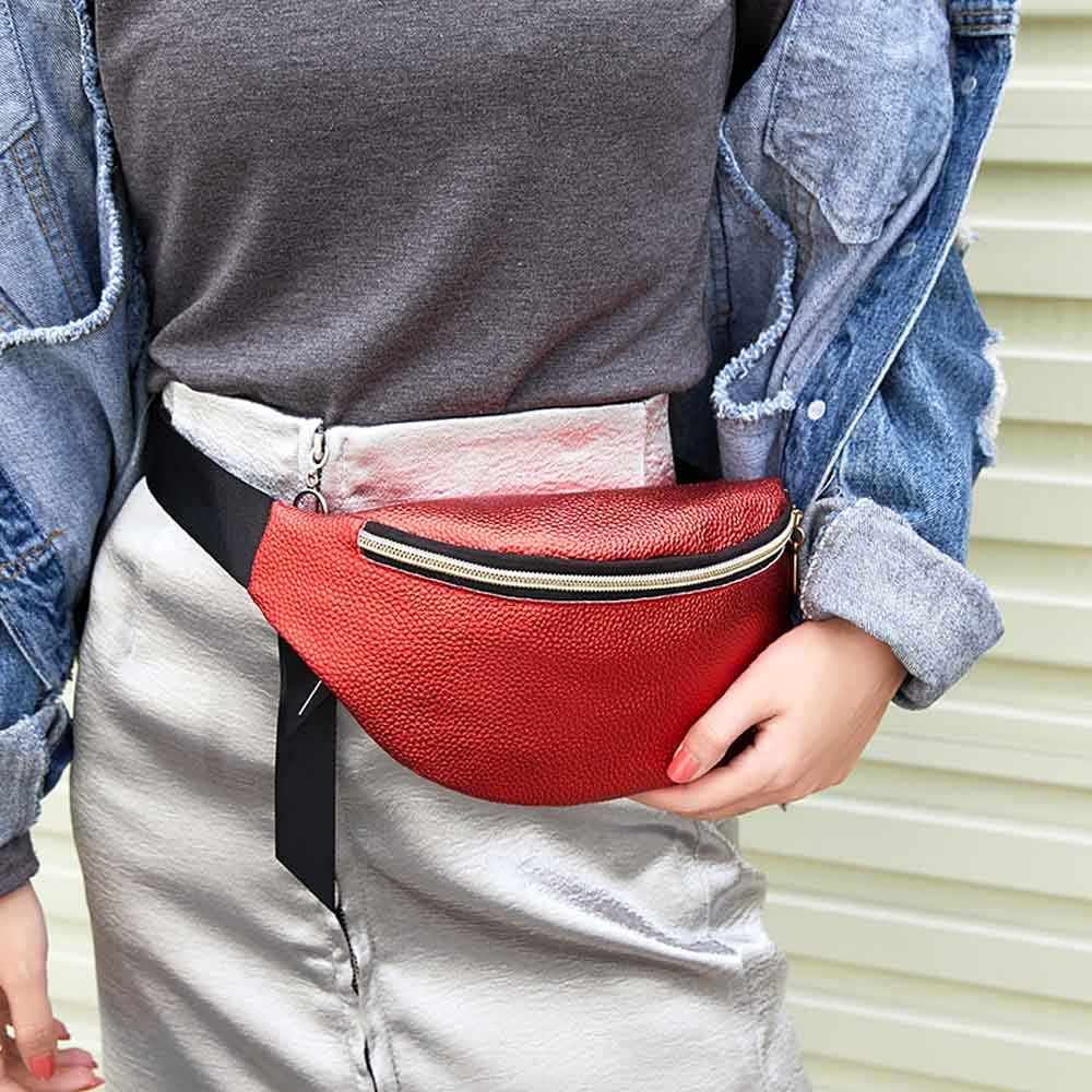 Women Sports Outdoor Running Waist Bag Fashion Delicate Texture Mobile Phone Bag Cross-bag Shoulder Bag