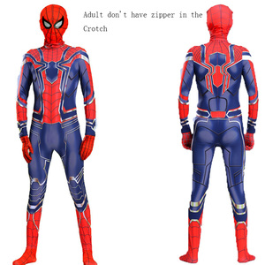 Image 2 - Man Latex Spider Costume for Kids Halloween Superhero Party Cosplay Carnival Spider Boys Fancy Dress