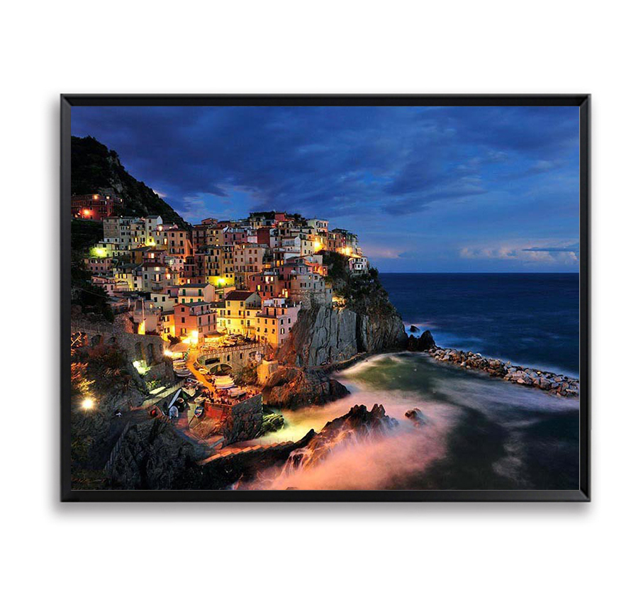 Seascape Night DIY Painting By Numbers Unique Gift Home Decor Wall Pictures for Living R ...