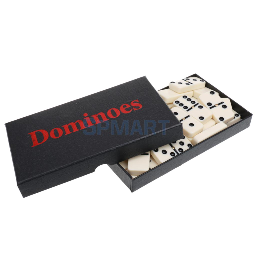 Double Six Dominoes Set of 28 Traditional Domino Travel Game Toy Beige dominoes 1 housemates ne