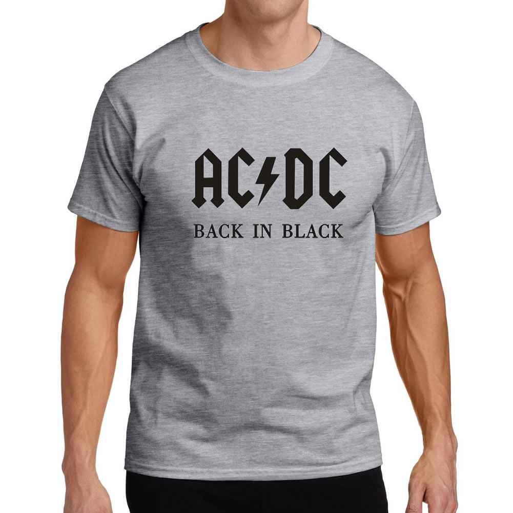 Back in black t shirt - 2017 New Camisetas Ac Dc Band Rock T Shirt Mens Acdc Graphic T Shirts