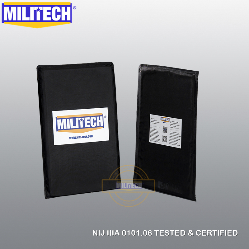 MILITECH 6'' X 10'' NIJ Level IIIA Pair Aramid Soft Ballistic Panel BulletProof Plate Inserts Body Armor Cummerbund Side Panel