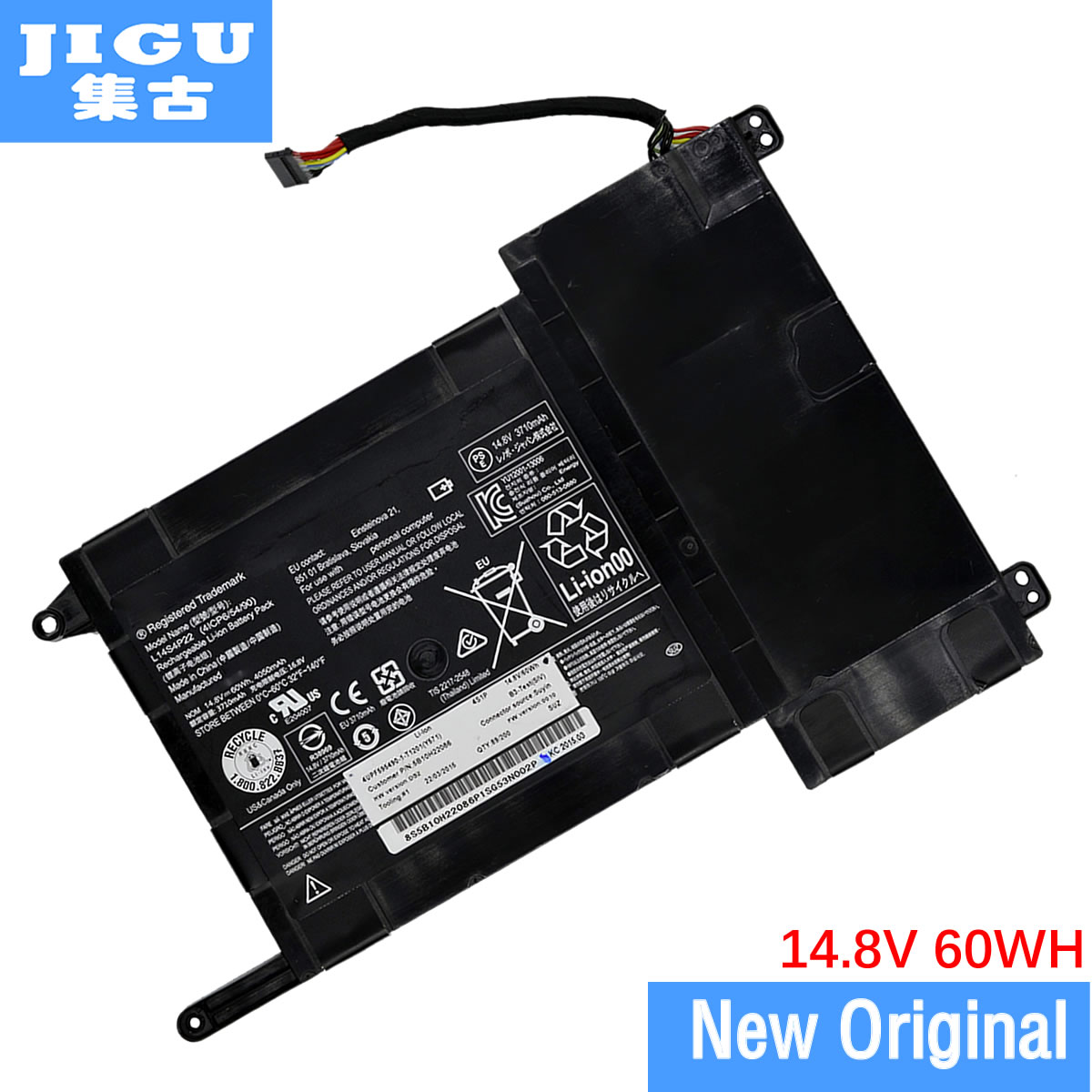 JIGU laptop battery L14M4P23 FOR LENOVO IdeaPad Y700 Y700 Y700-15ISK-ISE Y700-17ISK Y700-ISE jigu laptop battery for dell 8858x 8p3yx 911md vostro 3460 3560 latitude e6120 e6420 e6520 4400mah