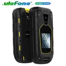 "Ulefone armadura flip ip68/ip69k telefones celulares impermeáveis 1200 mah tela dupla 2.4 ""+ 1.44"" sim duplo 1.3mp fm rádio áspero celular"