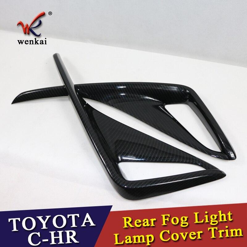 New Style For Toyota C HR CHR 2016 2017 ABS Rear Fog Light Lamp Cover Cap