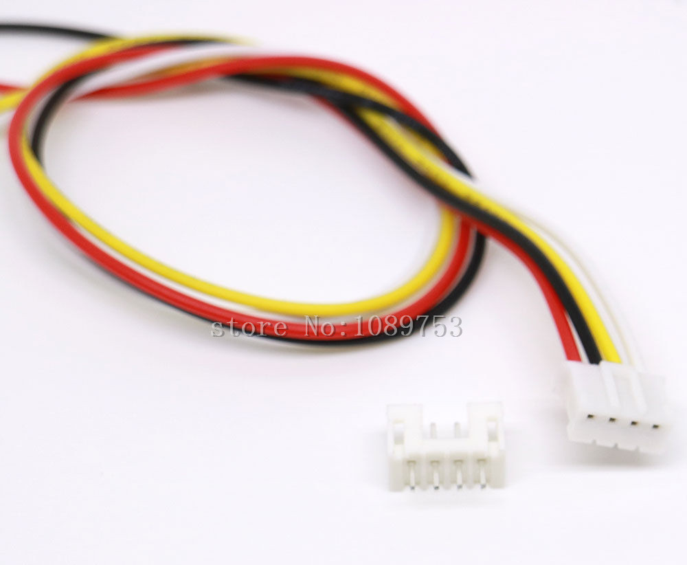 50 SETS Mini Micro JST 2.0 PH 4-Pin Connector plug with Wires Cables 300MM mini micro jst 2 0mm t 1 6 pin connector w wire x 10 sets 6pin 2 0mm