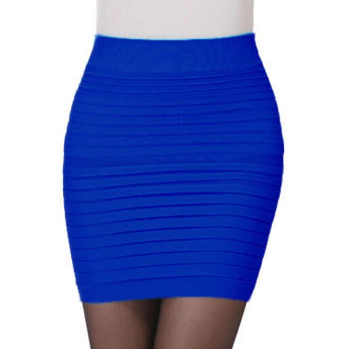 Ein Stück Mode Der Frauen Elastische Hohe Taille Paket Hüfte Kurzen Rock Bleistift Elegante Arbeitskleidung Büro Dame Spodnica Heißer