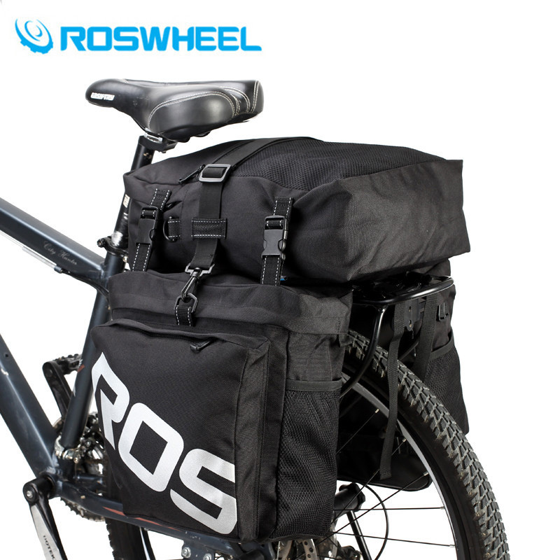 2018 New Arrival MTB Mountain Bike Rack Bag 3 in 1 Multifunction Road Bicycle Pannier Rear Seat Trunk Bag Bike Bags 37L rockbros large capacity bicycle camera bag rainproof cycling mtb mountain road bike rear seat travel rack bag bag accessories