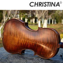 46e08550c الايطالية كريستينا V05B اليدوية المهنية الخشب violin4/4 luthier  ستراديفاريوس آلات موسيقية 4/4 الدرجات الكمان