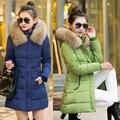 Moda outwear Mulheres Casaco Longo Inverno Quente casaco aquecer engrossar neve Revestimento Das Mulheres de longo Desgaste Neve de Algodão-acolchoado Jacket casaco longo