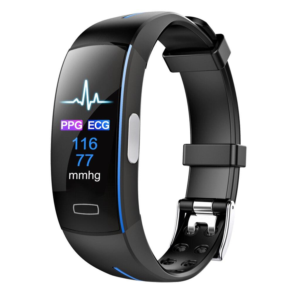 MHKBD PPG ekg bransoletka ciśnienie krwi IP67 inteligentny zegarek wodoodporny z paskiem sport krok monitorowania tętna zegarek na rękę KBD0020 w Ciśnienie krwi od Uroda i zdrowie na  Grupa 1
