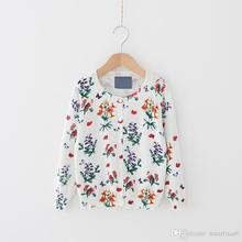 New Fashion Knitted Floral Cardigans Sweaters Jackets For Cute Kids Girls Western Fall Outwears 5pcs/lot Wholesale
