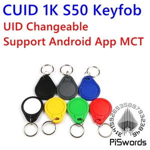 CUID UID changeable RFID keytag nfc keyfob with block0 mutable writeable key tag for 1k s50 13.56Mhz Support Android App MCT(China)