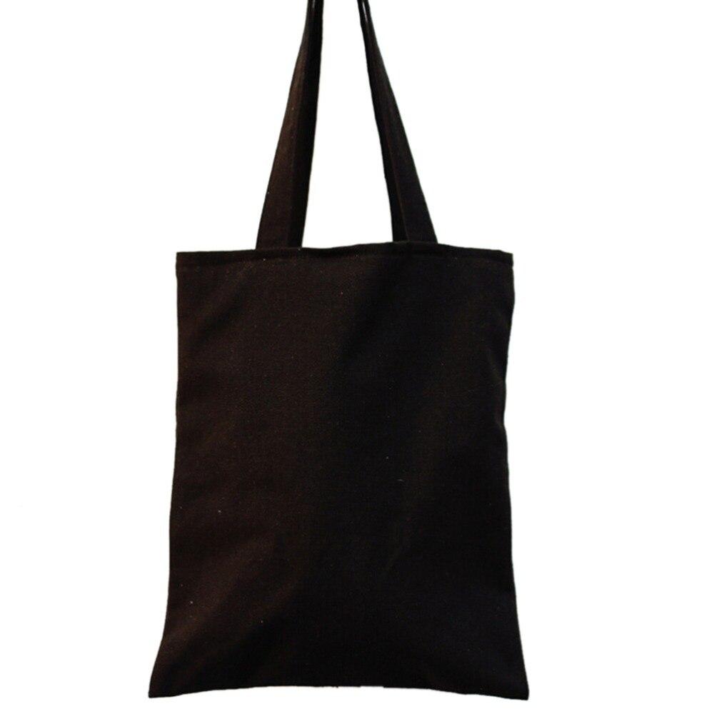 Unique Canvas Eco Shopping Tote Shoulder Bag Black White Heart Flower S#