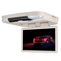13 3 Car Bus Flip Down HD Overhead Screen Ceiling Roof Mount Monitor Multimedia DVD Player