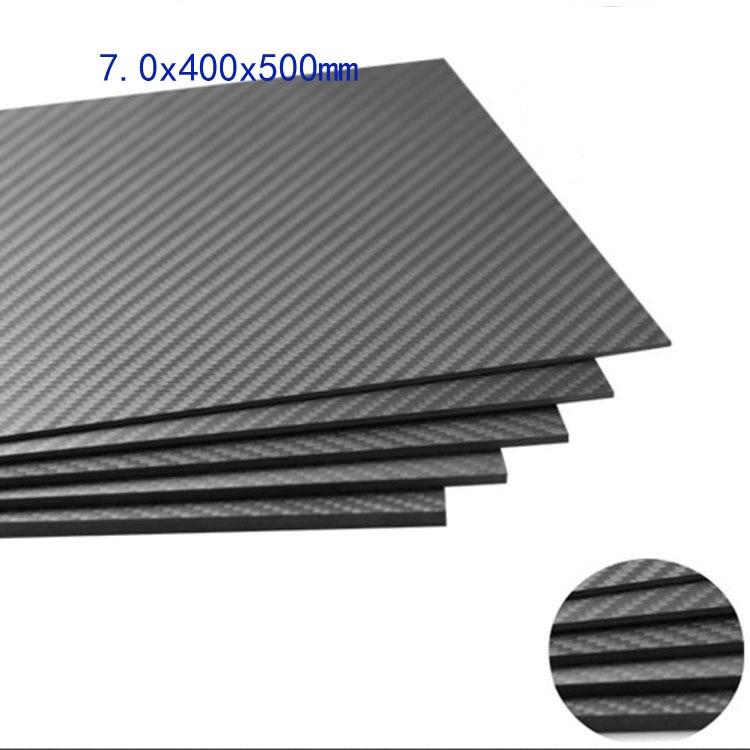 7.0mm x 400mm x 500mm 100% Carbon Fiber Plate, rigid plate , carbon fiber sheet, cf sheet for knife 2mm x 200mm x 300mm 100% carbon fiber plate rigid plate car board rc plane plate