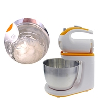 HIMOSKWA 3L Stainless Steel Bowl Electric Food Mixer 220V Cake Bread Dough Machine 5 Speed Handheld Egg Beater With Dough Hook