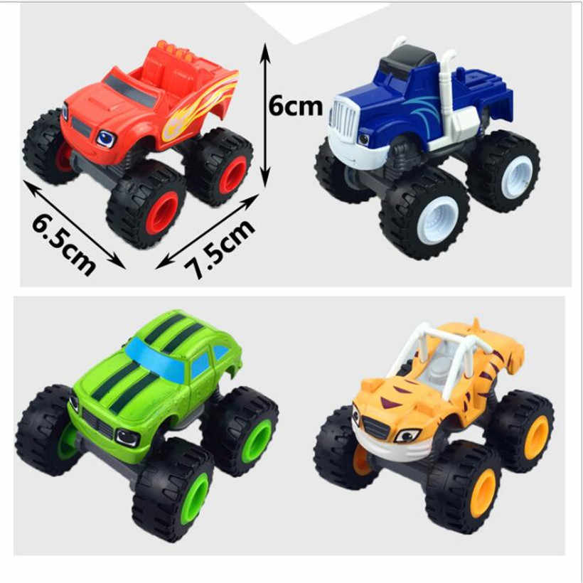 Hot Sell Anime Figure Blaze Cartoon Toy Car Monster Machines Model