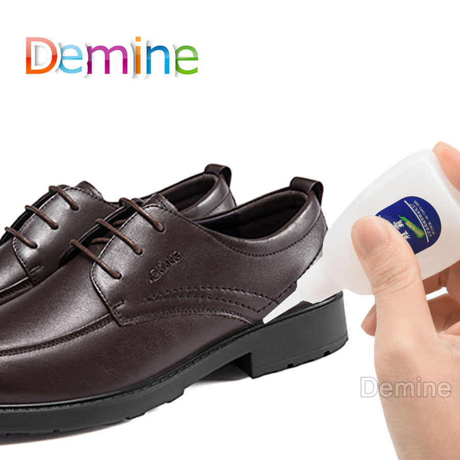 Demine 20g Super Glue Quick-drying for Leather Shoes Rubber Shoe Covers Liquid Strong Universal Glue Repair Tool Shoes Care Kit