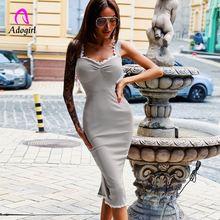Adogirl серое винтажное летнее женское длинное платье сексуальное