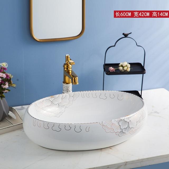 vasque ceramique ou porcelaine Salle de bains en céramique éviers en porcelaine lavabo En Céramique Vasque  Lavabo Salle De Bains