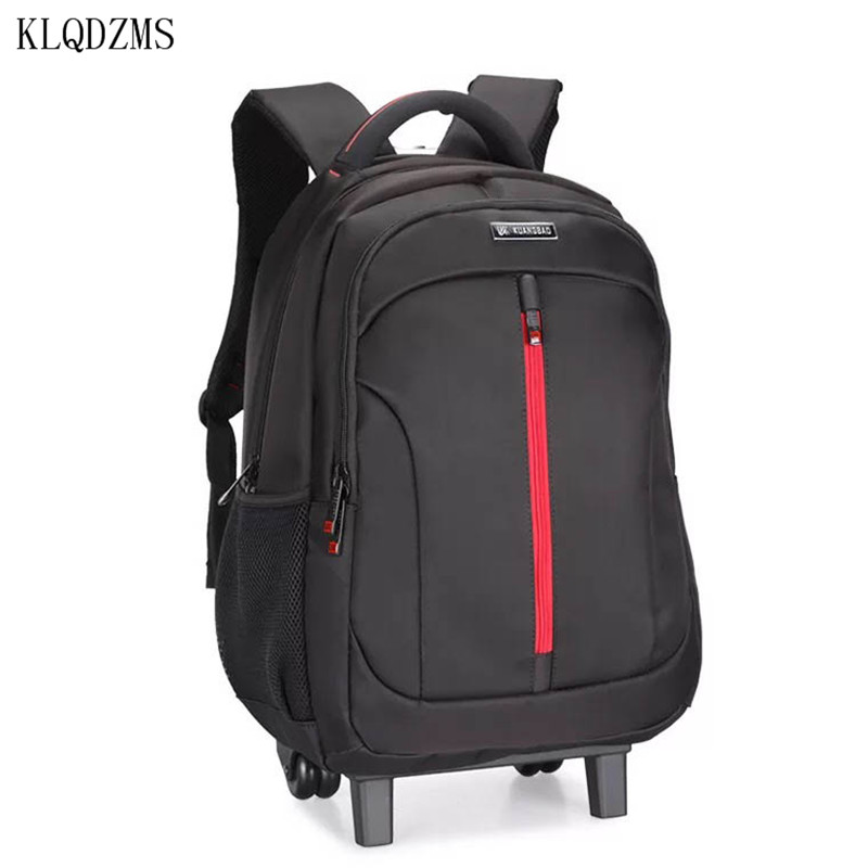 KLQDZMS 19inch Travel backpack rolling luggage backpacks shoulder high capacity wheels for trolley suitcase
