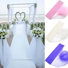 5Meter 48cm Yarn Crystal Tulle Organza Gauze Element Fabric Girl Tutu Party Birthday DIY Dress Wedding Decorative Supplies 75z