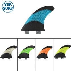 Biały/niebieski/żółty/pomarańczowy/zielony fcs SUP FCS płetwy G5 płetwa do deski surfingowej o strukturze plastra miodu czarna płetwa z włókna węglowego G5 Quilhas Fin prancha de