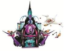 Doinbby Bela 10691 1096Pcs DC Super Hero Girls Figures Eclipso Dark Palace Building Blocks Set Bricks For Children Toys 41239