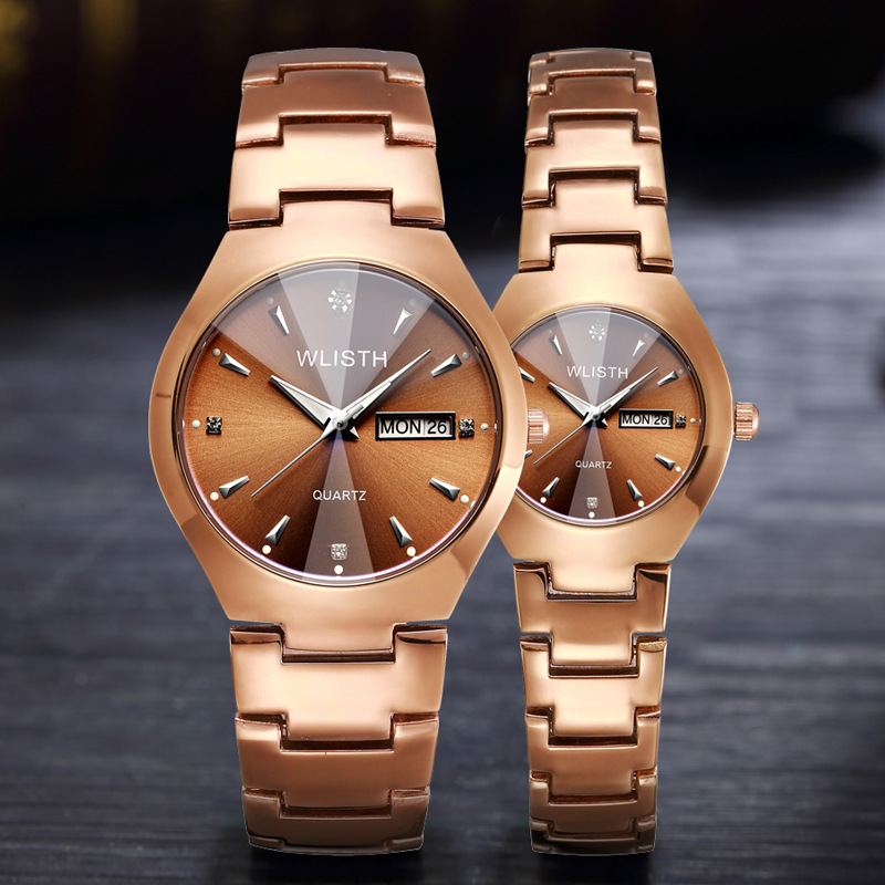 Lovers Watch Luxury Brand Quartz Wrist Watches for Men and Women New Alloy Business Watches Unisex Casual Couple Quartz Watches