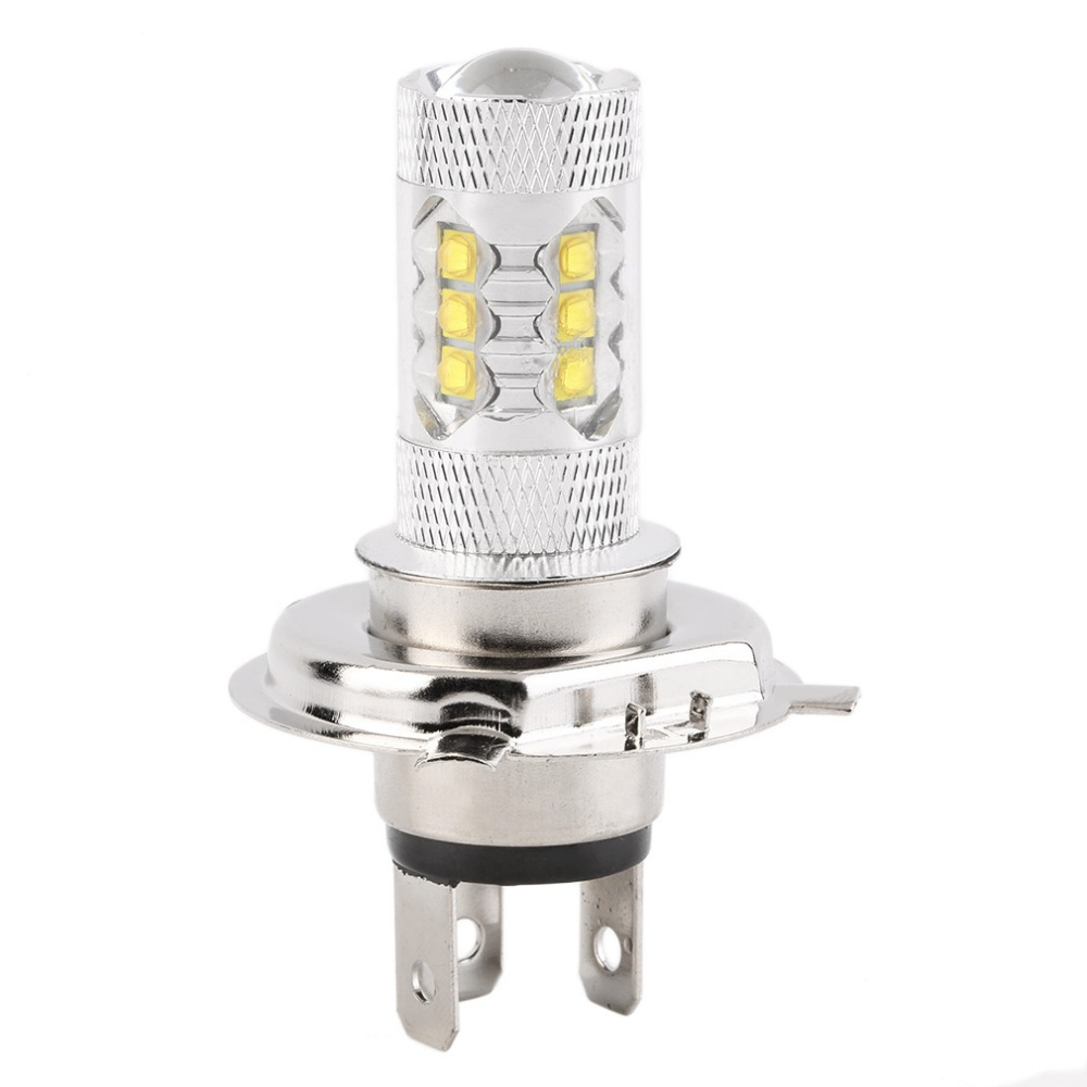 1pcs H4 80W LED Car Fog Lamp h4 led headlight Bulb Auto lights car led bulbs Car Light Source parking 12V 6000K xenon White 12v led light auto headlamp h1 h3 h7 9005 9004 9007 h4 h15 car led headlight bulb 30w high single dual beam white light