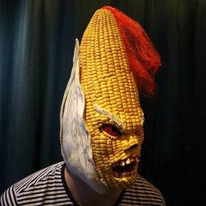 Image 2 - Angry Mr Old Corn, креативная маска для Хэллоуина, высококачественный желтый головной убор из кукурузы, вечерние украшения для Хэллоуина, вечерние товары для Хэллоуина &
