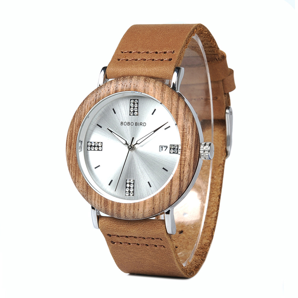BOBO BIRD L-O28-1-2 Wooden Wristwatches Top Brand Designer Leather Band Stainless Steel Men Watches Women Can Drop Ship drop ship acceptable tree bird