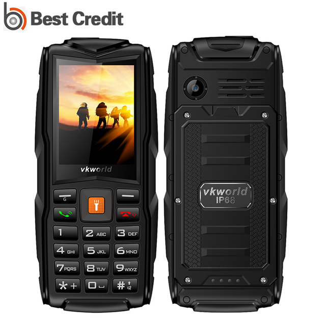 "Original Vkworld New Stone VKV3  V3S  V3 Plus GSM Waterproof Dustproof 2.4"" Mobile Phones Dual SIM Cell phone FM Radio Bluetooth"