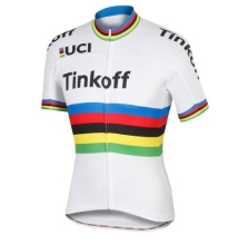 2016 World Tour champion jersey SET team tinkoff saxo rainbow Cycling jerseys quick-dry cloth MTB Ropa Ciclismo Bicycle maillot